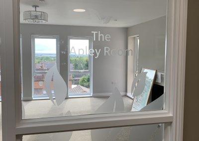 Care Home Room NAme window graphics