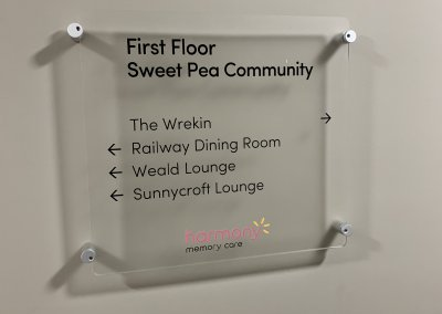 Care Home Suite Directional Sign