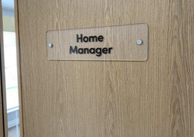 Care Home door sign