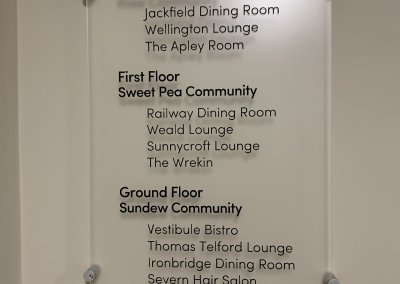 Care home Wall Directory