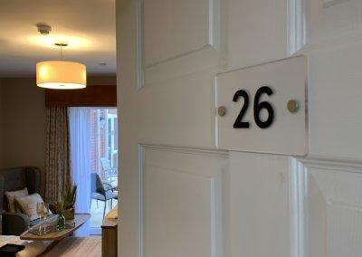 Care home door number
